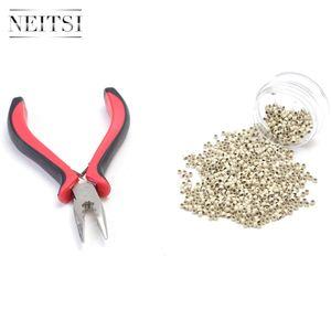 Neitsi Cheap 1000pcs Nano Ring + 1pc Fusion Extension Hair Removel Pinze (rosso) 5 colori per la scelta migliore