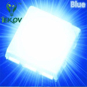 10000 adet 5050 PLCC-6 Mavi LED SMD vurgulamak ışık yayan diyotlar 3.0-3.2 V 600-900mcd Yüksek kaliteli SMD / SMT Çip lambası boncuk Toptan