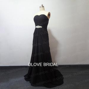 Preto Branco Chiffon Coluna Vestido De Casamento Imagens Reais Strapless Cor Querida Vestidos De Noiva Vestidos de Cristal Perals Espartilho Vestido de Noivas