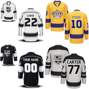 Los Angeles Kings Jersey Uomo 2 Matt Greene 6 Jake Muzzin 11 Anze Kopitar 27 Alec Martinez Maglie personalizzate per hockey Qualsiasi nome e qualsiasi numero