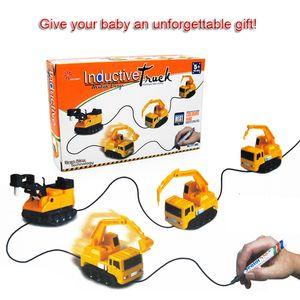 Mini Magic Pen Induktive Fangle Vechicle Spielzeug kinderauto lkw tank auto spielzeug kreative geschenk mit kleinkasten