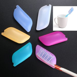 Silikon-Zahnbürsten-Kasten-Abdeckungs-Halter-Reise-Badezimmer-Silikon-Kasten-Staub-Silikon-Bürsten-Kopf 6 Farben geben DHL WX9-20 frei