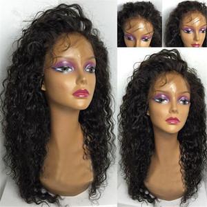 7A 끈적없는 전체 레이스가 발 캄보디아 물 파도 머리가 발 표백 된 매듭 전체 레이스 프런트 인간의 머리가 발 블랙 여성을위한