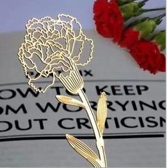 Classic Stationery Carnation 18K gold plated Bookmarks Office & School Supplies Desk Accessories Business Gifts Gifts For Mothers