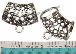 Takı bulgular diy eşarp aksesuarları kefaletler kolye konnektörler büyük gümüş bayan kalp aşk kristal set büyük delik metal kış 42mm 30 adet