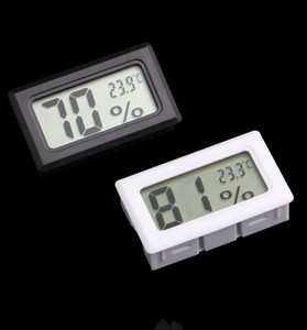 مصغرة الرقمية lcd المدمجة الحرارة الرطوبة الرطوبة متر داخلي ترمومتر أسود أبيض