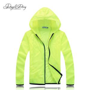 Automne-Light Sport Manteau À Capuche Imperméable À L'eau Sportswear Unisexe Solid Jacket Transparent Écran Solaire Séchage Rapide Coupe-Vent DCT-012