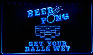 LS112-B Beer Pong Get Your Sign palle bagnato della luce al neon