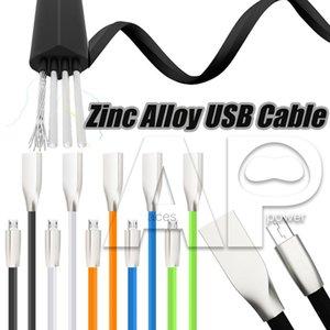 Type C Micro V8 Câbles USB 1 M 3ft TPE en alliage de zinc Prise USB Chargeur Sync Câble pour Samsung Galaxy S20 S8 plus