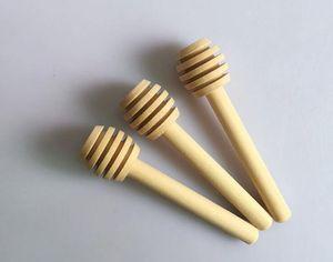 8cm lunghi Mini legno Honey Stick Dipper Supply Partito legno Cucchiaio del miele Bastone per Honey Jar Stick Utensili da cucina