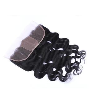 9A Cheveux Humains Base En Soie 4x4 Dentelle Frontale Fermeture 13x4 Avec Bébé Cheveux Blanchis Noeuds Body Wave Dentelle Frontale Livraison Gratuite