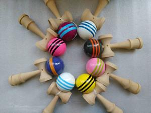 yeni ! 50 adet 25 cm jumbo Profesyonel Parlak Bilboquet Topu Japon Geleneksel Ahşap Oyun Çocuk Oyuncak PU Boyalı Kayın Eğlence spor