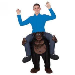 Teddy Bear Stuffed Ride On Me Stag Mascot Porter Costume De Déguisement De Dos