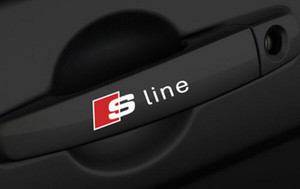 Alta qualidade maçaneta da porta s line pvc adesivos de carro para audi a3 a4 a5 a6 a7 a8 a8 s8 q3 q5