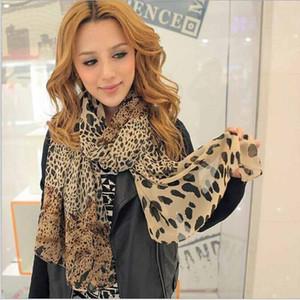 Wholesale- 2014 heißen Verkauf-reizvolle Art und Weise Shinning Leopard-Druck Chiffon-Schal-Schal für Frauen und Mädchen heißen neueste