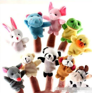 Em armazém Unisex Toy fantoches de dedo Dedo Animais Brinquedos bonitos das crianças do Cartoon Toy Animais empalhados Brinquedos