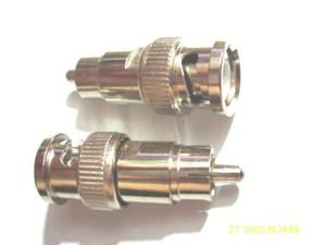 10PCS metal BNC macho para RCA macho conector do adaptador