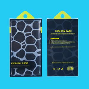 Caixas vazias do empacotamento da caixa plástica do pacote de varejo do PVC para o iPhone 8 7 6S 6 mais 5,5 polegadas x tampa do caso da carteira do couro do telefone de Samsung S5 nota 4 3
