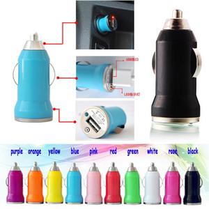 USB автомобильное зарядное устройство красочные пуля мини автомобиль зарядка портативный зарядное устройство Универсальный адаптер для всех мобильных телефонов