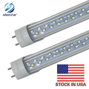 En acciones de Estados Unidos T8 tubo de luz LED de 28W LED bombilla fluorescente 192 LEDs SMD 2835 4 pies 1200mm AC85-265V UL CE FCC ETL SAA