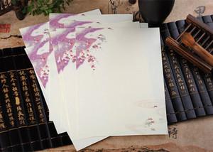 Großhandels- 2017 Umschlag 32 teile / los Neue Vintage Chinesischen Stil Farbe Tinte Malerei Gewöhnlichen Papier Brief Schöne Blumenmuster Schreiben Wz