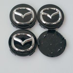 4pcs 56mm For MAZDA 3 5 6 CX-5 CX-7 CX-9 RX8 MX5 MIATA MPV wheel Center Hub Cap 56mm Silver Black