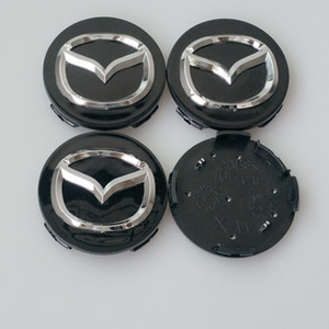4шт 56 мм для MAZDA 3 5 6 CX-5 CX-7 CX-9 RX8 MX5 MIATA MPV центр колеса колпачок ступицы 56 мм серебристый / черный