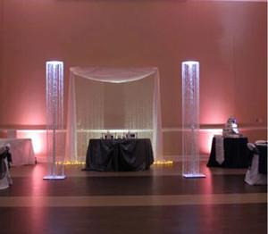 المعادن الزفاف الحرفية الحديثة زهرة ترتيب حامل للديكور الزفاف الديكور
