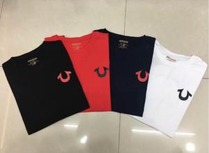 NEW T-shirt da uomo Slim American Jeans Club Red Robin True Jeans USA di colore Rosso Nero Bianco