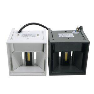 Umlight1688 7W 12W COB LED Wall arandelas de parede luzes IP65 montado na superfície exterior Cube Lâmpada Waterproof Up Down (branco branco quente)