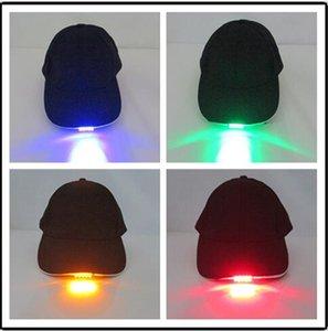 30 pcs bright led cap glow in dark para leitura de pesca de jogging acampamento ight up led esporte chapéu bonés de beisebol d822