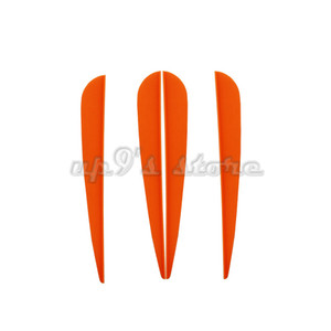 100pcs 5 inch Plastic OrangeArrow Vane TPU Fletching for DIY Arrow Archery Bow