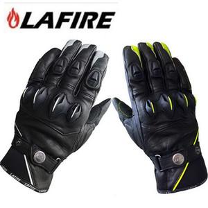 2016 neue authentische französische LAFIRE Wolverine Motorrad Reithandschuhe Ritter Motorrad Racing Lederhandschuhe 2 Farben und 3 Größe