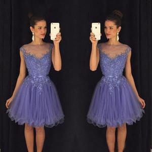 Uma Linha Curta Apliques Frisado Homecoming Vestido de Festa Vestidos de Baile Vestidos de Formatura 8ª Série Custom Made
