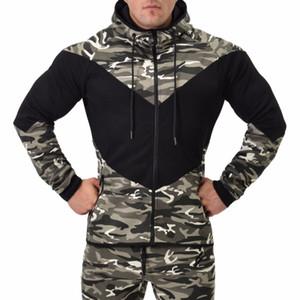 Novo 2017 Camuflagem Encabeça Outono Inverno Moda Masculina Hoodies Algodão Ocasional de Lã Macho Pulôver Dos Homens Crewneck Camisola