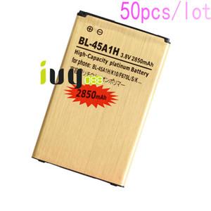 50pcs lot 2850mAh BL-45A1H BL45A1H Gold Replacement Battery For LG K10 F670L F670K F670S K420N LTE Q10 K420 Batteries Batteria Batterie