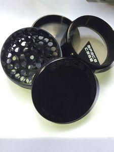 63mm 4 pc CNC En Aluminium espace cas Meuleuse De Fumée De Tabac Détecteur De Cigarette Broyage De La Fumée De Tabac Meuleuse VS sharpstone