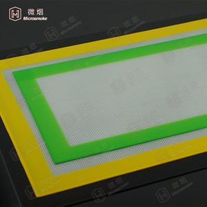 FDA aprovou 11 * 8.5 cm antiaderente silicone tapete de cozimento de fibra de vidro 100 pcs tapete de cozinha com cores differen atacado-f023