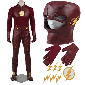 2016 Filme QUENTE O Flash Cosplay Unisex Temporada 2 Barry Allen Superhero Halloween Outfit Personalizar