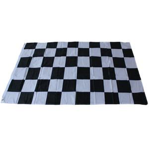 Гонки клетчатый флаг - черно-белый плед баннер 90*150 см 3*5 футов гоночный автомобиль флаг Автоспорт гоночный баннер Home Decor