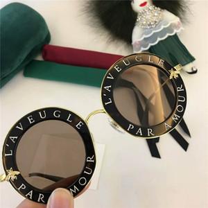 Nueva alta calidad 0113 para mujer gafas de sol de las mujeres gafas de sol 0113S ronda gafas de sol gafas de sol gafas de sol mujer luneta