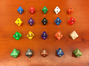 D8 Multicolour Dice 8 Sided Polyhedral Dices 15mm Kids Educational Toys D&D RPG Game Toy Board Game Acessorios Entertainment #P41