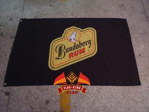bandeira RUM Bundaberg, transporte livre, 100% poliéster 90 * 150 centímetros, Impressão Digital, banner bundaberg