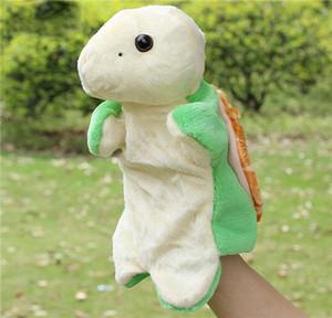 Plush Toy Pooh Hand Puppet Baby Kids Doll Plush Toy Stuffed Animal Model Turtle Hand Puppets Short Plush Turtle Doll