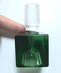 Супер кубическая красочная стеклянная чаша 14 мм 18 мм кубическая стеклянная чаша квадратная чаша/слайд с мужским совместным стеклянным Бонгом для курения аксессуара