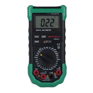 Wholesale-MASTECH MS8264 Digital Multimeter with Temperature / Frequency / Capacity / Transistor (1* 9V)