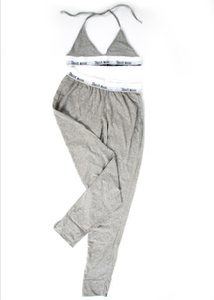 Klasik moda Kadın pantolon seti, İç Çamaşırı Uzun pantolon Sütyen Seti