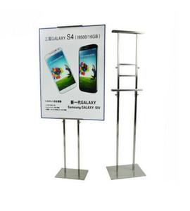 Gümüş Metal Ayarlanabilir Posteri Ekran Standı Posteri Raf Tutucu Tabela Standı Posteri Tutucu raf standı