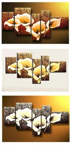 Free Shipping,Thick texture,The Calla Lily flowers ,Top Quality Oversized Oil Painting On Canvas Wall Art ,home furnishing Decoration HH5002