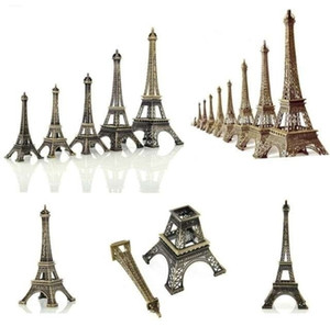Vendita calda 1 pz Bronzo Torre Eiffel di Parigi in metallo Statuetta Statua modello d'epoca Casa Decori lega Souvenir